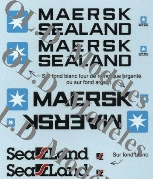 Planche décalques container Sealand / Maersk