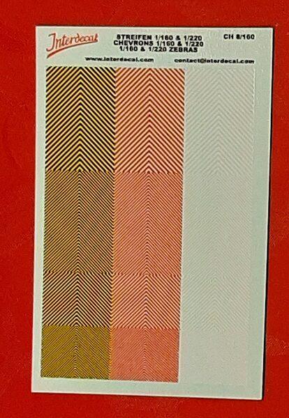 Planche décalque chevron Interdecal ch8/160  (1/160 & 1/220)