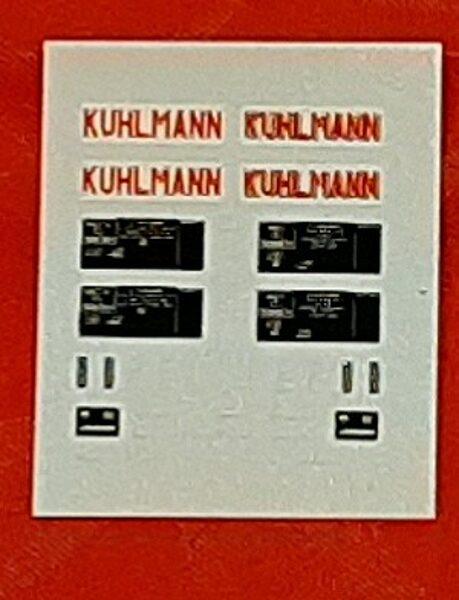 Planche décalque pour wagon citerne Kuhlmann pour 2 wagons