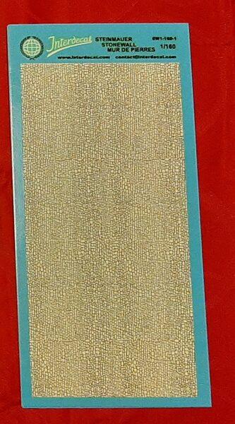 Planche décalque imitation mur de pierres 1/160