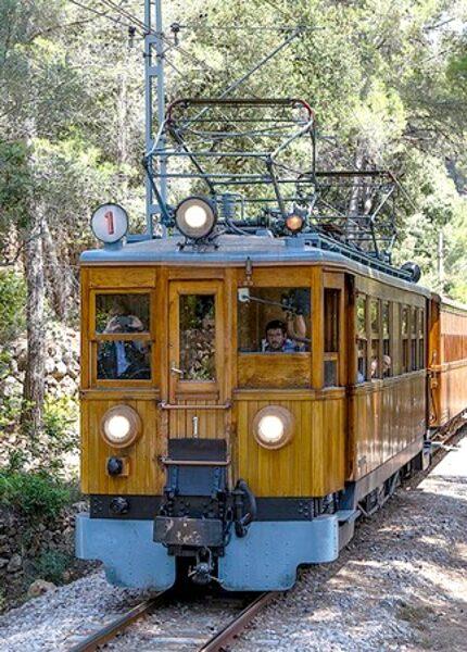 Tramways de Soler à Palma voiture voyageur mixte fourgon fret 1/160